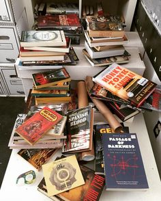 Looks like I need to get busy shelving stuff this weekend. #books #bookstagram #fiction by captainmurphy