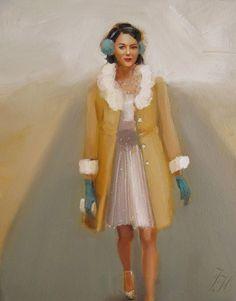 winter walk...Janet Hill Studios...love  love  love this artist!