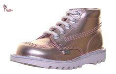 Kickers Kick Hi Inf pour enfant en cuir Matt Chaussures - métallique - Metalbrz SS19, 28 EU - Chaussures kickers (*Partner-Link)