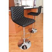 Found it at Wayfair - Caviar Adjustable Height Swivel Bar Stool with Cushion