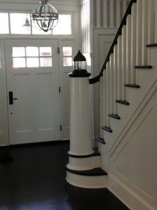 staircase newel nautical design, architectural millwork, architectural woodwork, Boston, Massachusetts, New England