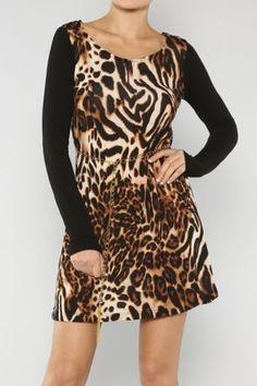 Animal Print Dress #salediem wants you to ROAR!Enjoy your #animalprint #fall#fashion Shipping is FREE!