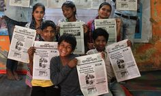 A newspaper produced by homeless children in Delhi is highlighting issues such as child marriage and giving sidelined young people a voice