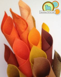 Felt in Fire-y colors from American Felt and Craft