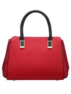 Red Metallic Embellished PU Tote Bag 26.78