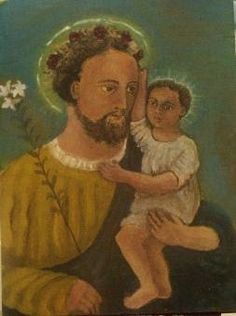 Saint Joseph and Jesus, by Jody Bill