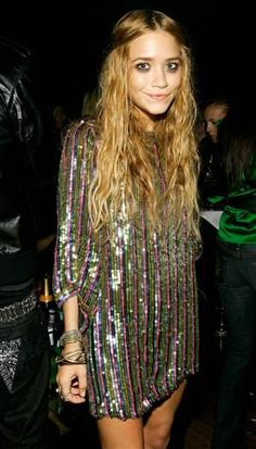 Mary Kate Olsen can mix grunge with sequins, that is skill. I want to wear this at a Glastonbury midnight rave.