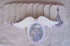 Custom Angel Wing Invitation/Announcement by princessbooksbyjmh, $37.00