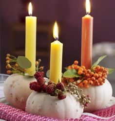 Pumpkin Gourd Candleholders