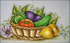 Projects For Kids, Art Projects, Fruits And Veggies, Vegetables, Diwali Craft, Dish Towels, Fabric Painting, Flower Art, Bowser