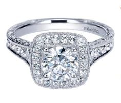 Bold & beautiful. A Gabriel & Co. Engagement Ring.
