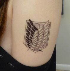 Attack on Titan / Shingeki no Kyojin Survey Corps Wings of Freedom Temporary Tattoo Anime Tattoos, Leg Tattoos, Body Art Tattoos, Small Tattoos, Sleeve Tattoos, Cool Tattoos, Tatoos, Maori Tattoos, Arrow Tattoos