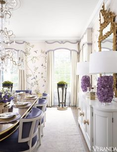 When I saw this Regency-style house featured on the cover of Veranda magazine's anniversary issue, my heart skipped a beat. Located in the Buckhead neighborhood of Atlanta and buil… Casa Magnolia, Design Hall, Interior Exterior, Interior Design, Veranda Magazine, Hickory Chair, Atlanta Homes, Dining Room Design, Home Renovation