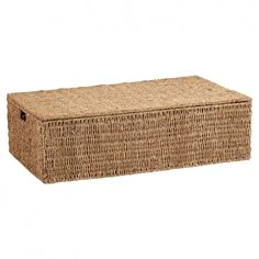 Hartleys Under Bed Storage Box. Woven from natural seagrass. Ideal storage chest for bedding, clothes, shoes, toys etc. Under Bed Storage Boxes, Storage Baskets, Home Storage Solutions, Trunks And Chests, Blanket Chest, Wicker, Decorative Boxes, Outdoor Decor, Stuff To Buy