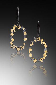 Oval Confetti Earrings by Lori Gottlieb (Gold & Silver Earrings`) | Artful Home