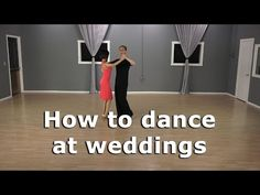 How to dance at a wedding for couples with Ballroom dance basics - YouTube