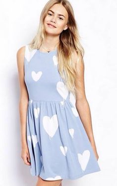 Casual Heart Lovely Print Dress preorder available. Visit us at http://shopestvian.com