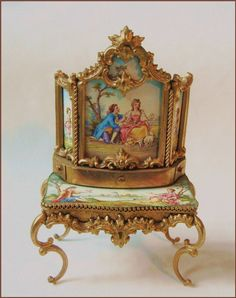 Hand painted enamel with gilt ormolu minatures made in Austria circa 1890 - presumable by Erhard & Söhne