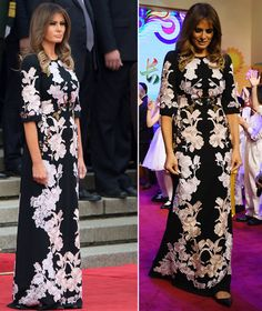 melania tump donald pictures latest news outfit