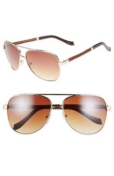 Icon+Eyewear+'Asher'+59mm+Aviator+Sunglasses+available+at+#Nordstrom