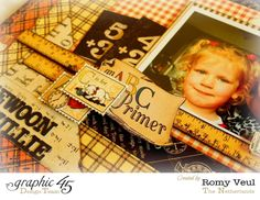 Layer the smaller imagery of An ABC Primer to make a dynamic layout! By: Romy Veul #graphic45