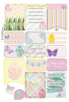 Easter pastel floral themed planner stickers for ECLP IWP