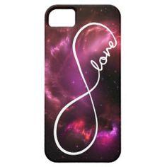 infinity love - pink nebula iPhone 5 case