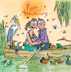quentin blake - Cerca con Google Vintage Illustration Art, Illustration Styles, Quentin Blake Illustrations, Couple Art, Happy Anniversary, Love Is Sweet, Childrens Books, Illustrators, Sketches