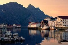 The fishing village Henningsvær, Norway