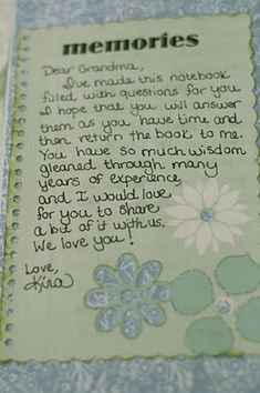 Notebook for Grandma