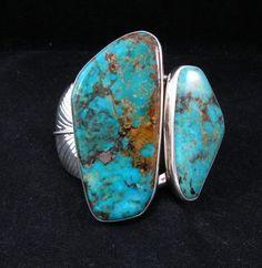 Adam Fiero Navajo Kingman Turquoise Sterling Silver Bracelet
