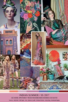 TrendSenses Moodboard Indian Summer SS 2017 - TrendSenses.com