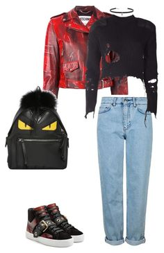 Untitled #269 by lea-monrad-post on Polyvore featuring polyvore, fashion, style, adidas Originals, Moschino, Topshop, Burberry, Fendi, Carbon & Hyde and clothing