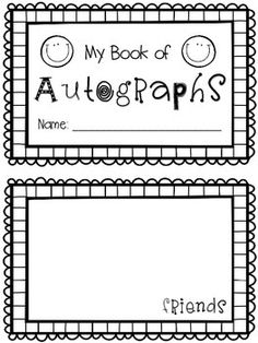Student Gifts Discover End of Year Autograph Book End of the school year autograph book for your students! Printer friendly black and white. Includes a cover page and five half-sheet pages for students to sign. Just print cut and staple! Pre K Graduation, Kindergarten Graduation, End Of Year Activities, Autograph Books, End Of School Year, School Signs, School Themes, Student Gifts, School Projects