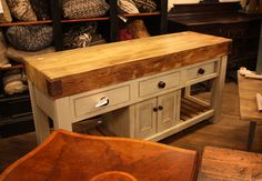 Found this in my travels today. Love that butcher block!