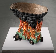 Studio Job creates table based on a car crash