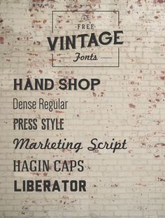 Font Must-Haves 004: Free Vintage Fonts   The Anastasia Co.