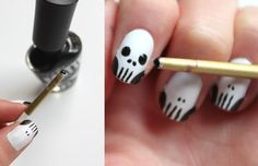 Syl and Sam: 248: tutorial - skull nails. this would be good for halloween time.