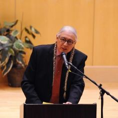 NEWS: Native American lawyer, author says Maine's indigenous people at crossroads...Attorney, activist and author Walter Echo-Hawk address a group gathered at the Minsky Recital Hall on the University of Maine campus on Thursday.