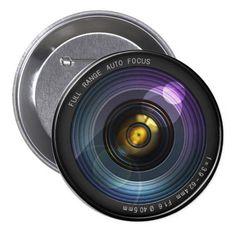 Camera Lens Button #camera #pinback #button
