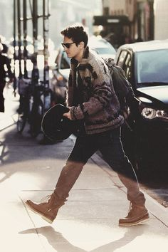 John Mayer- on his way to rock out with The Rolling Stones.