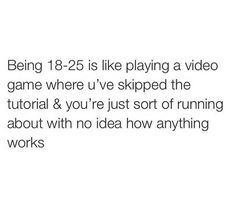 Being 18-25