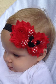 Minnie Mouse headband   Disney headband by SummerJadeBoutique, $10.50