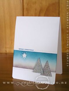 A cool Xmas card with tutorial - thanks Kristine!