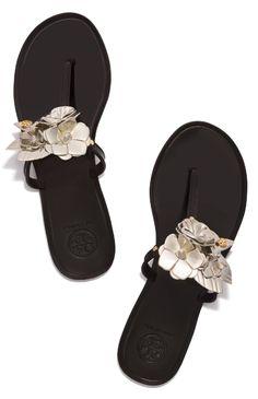 ff237b7b8dfe Tory Burch Blossom Jelly Thong Sandal Closed Toe Sandals, Strappy Sandals  Heels, Flip Flop