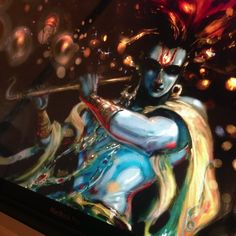 Shiva (painting by Abhishek Singh aka Abhiart. Krishna Leela, Krishna Love, Lord Krishna, Lord Shiva, Shiva Art, Shiva Shakti, Hindu Art, Radha Krishna Images, Krishna Radha