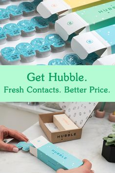 We started Hubble because contact lenses are too expensive. Our fresh, daily contacts are affordable and delivered straight to you!
