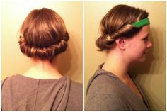 really want to try this...apparantly, if you sleep with yout hair like this, you get curls in the morning :)