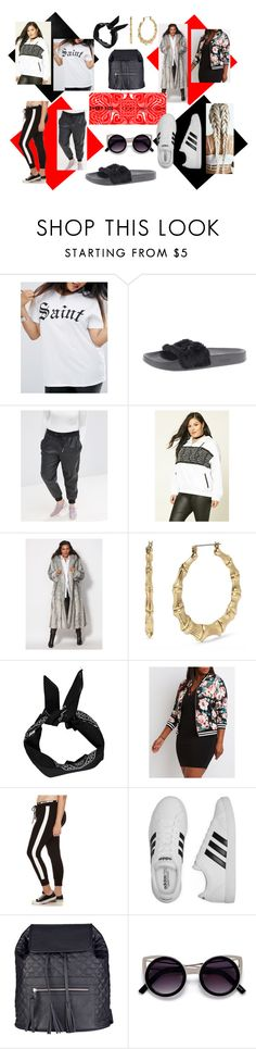 """""""Every Size Is The Right Size"""" by graybelle86 on Polyvore featuring ASOS Curve, Puma, Forever 21, Betsey Johnson, Boohoo, Charlotte Russe, adidas, San Diego Hat Co., powerlook and plus size clothing"""