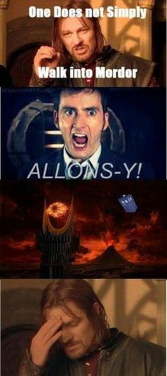 BAHAHAHAHA!!!!! I'm grinning like an idiot.  It's true tho!  One can't simply walk into Mordor!